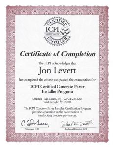 ICPI certificate